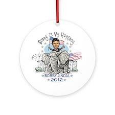Jindal Homeboy Elephant Ornament (Round)