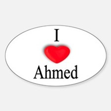 Ahmed Oval Decal