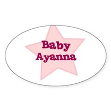 Baby Ayanna Oval Decal
