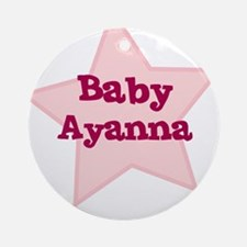 Baby Ayanna Ornament (Round)