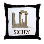 Agrigento Sicily Throw Pillow