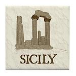 Agrigento Sicily Tile Coaster