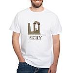 Agrigento Sicily White T-Shirt