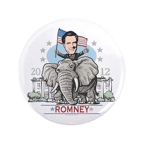 "Romney GOP Elephant 3.5"" Button"