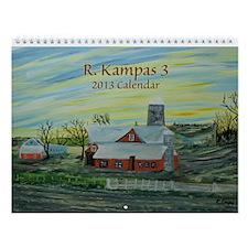 R. Kampas 3 2013 Wall Calendar