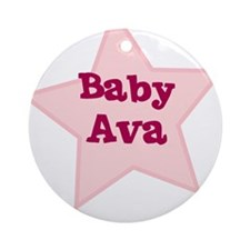 Baby Ava Ornament (Round)