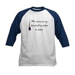 Writing Voices Kids Baseball Jersey