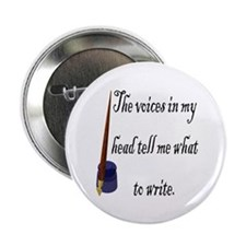 """Writing Voices 2.25"""" Button"""
