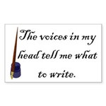 Writing Voices Rectangle Sticker