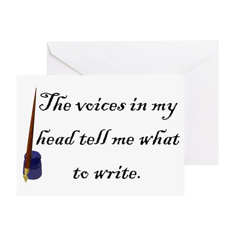 Writing Voices Greeting Card