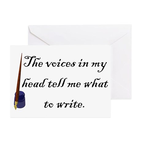 Writing Voices Greeting Cards (Pk of 20)