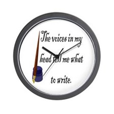 Writing Voices Wall Clock