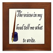 Writing Voices Framed Tile