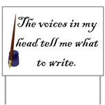 Writing Voices Yard Sign