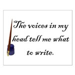 Writing Voices Small Poster