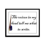 Writing Voices Framed Panel Print