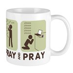 2-spray and pray white Mugs