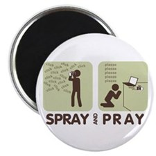 Cute Wtd spray and pray Magnet