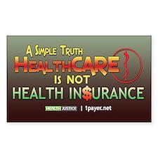 HealthCARE vs. Health Insurance Decal