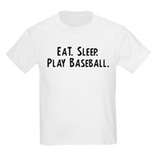 Eat, Sleep, Play Baseball Kids T-Shirt