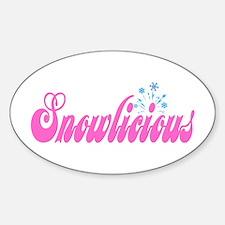 Snowlicious Oval Decal