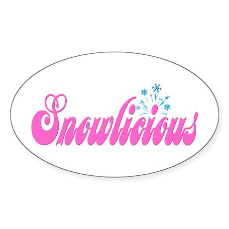 Snowlicious Oval Sticker