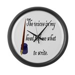 Writing Voices Large Wall Clock