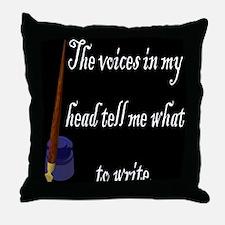 Writing Voices Throw Pillow
