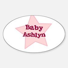 Baby Ashlyn Oval Decal