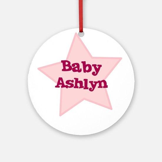 Baby Ashlyn Ornament (Round)