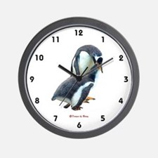 Gentoo Penguin feeding Young - Wall Clock