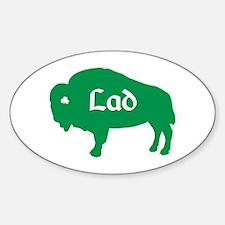 Buffalo Irish Lad Oval Decal