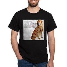 Golden Retriever Black T-Shirt
