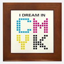 Dream In CMYK Framed Tile