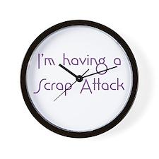Scrap Attack Wall Clock
