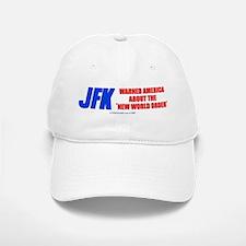 JFK's Warning of NWO Baseball Baseball Cap