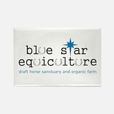 Blue Star Logo Rectangle Magnet