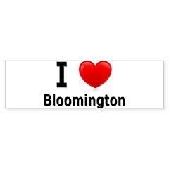 I Love Bloomington Bumper Sticker (50 pk)