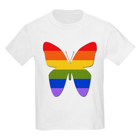 Rainbow Butterfly Kids T-Shirt
