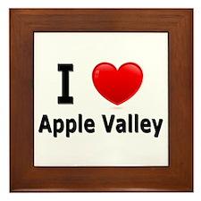 I Love Apple Valley Framed Tile
