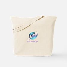 Cute Teal and purple ribbon Tote Bag