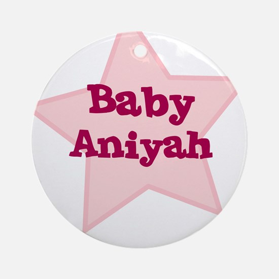 Baby Aniyah Ornament (Round)