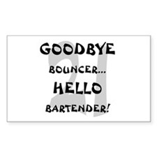 21 Goodbye Bouncer Rectangle Decal