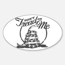 Dont Tread Snake Oval Decal