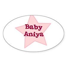 Baby Aniya Oval Decal