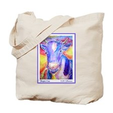 Cow! Purple cow art! Tote Bag