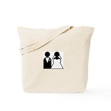 BRIDE / GROOM B+W Tote Bag
