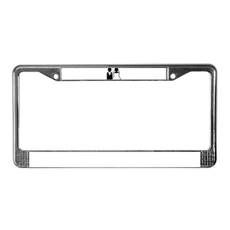BRIDE / GROOM B+W License Plate Frame