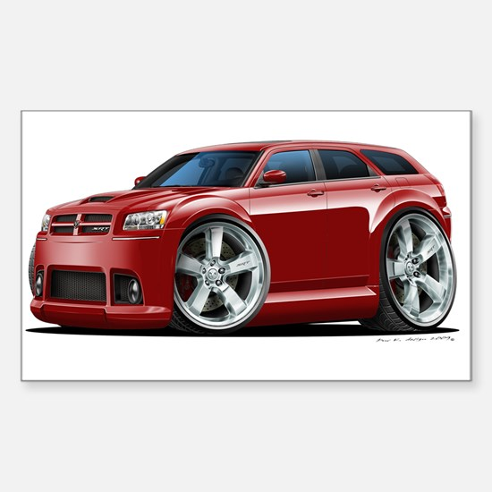 Dodge Magnum Maroon Car Rectangle Decal