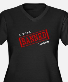 Banned Books Women's Plus Size V-Neck Dark T-Shirt